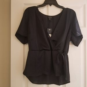 NWT Lucky Brand surplice blouse, lg